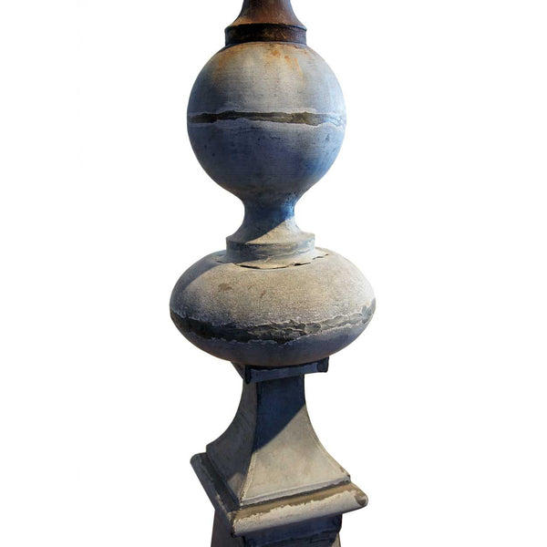 French Zinc Architectural Roof Finial as a Two-Light Floor Lamp