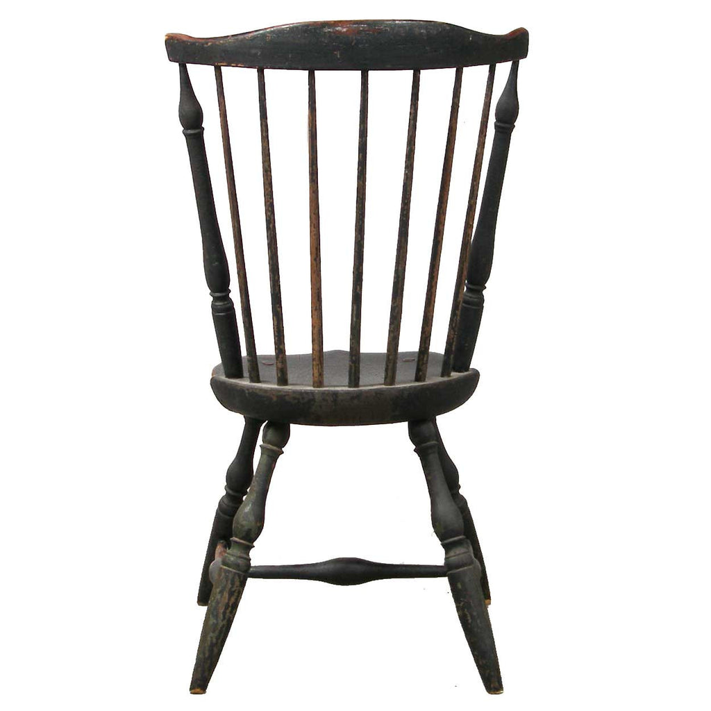 American windsor chair - American New England Painted Fan Back Windsor Side Chair