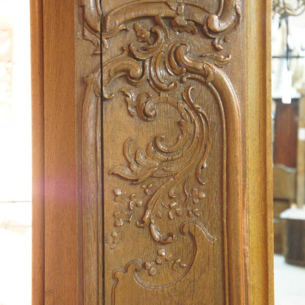 French Louis XV Style Oak Boiserie Room Wall Panel