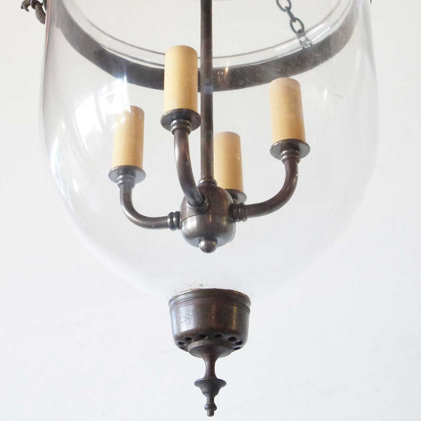 Anglo Indian Glass Four-Light Hall Lantern (Hundi)