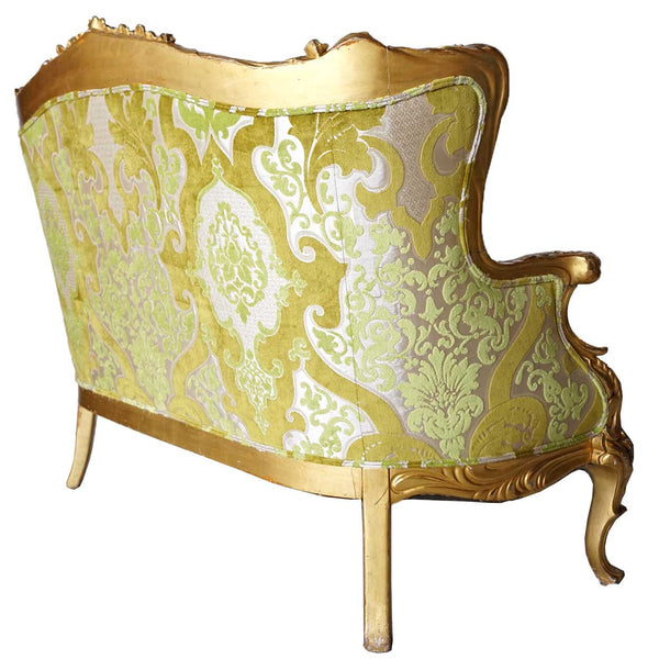 American S. Karpen & Brothers Art Nouveau Giltwood Upholstered Sofa