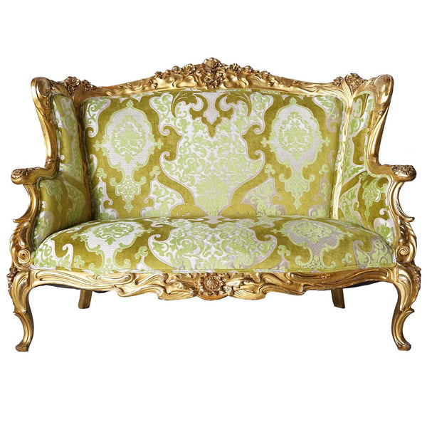 American S Karpen Brothers Art Nouveau Giltwood Upholstered Sofa