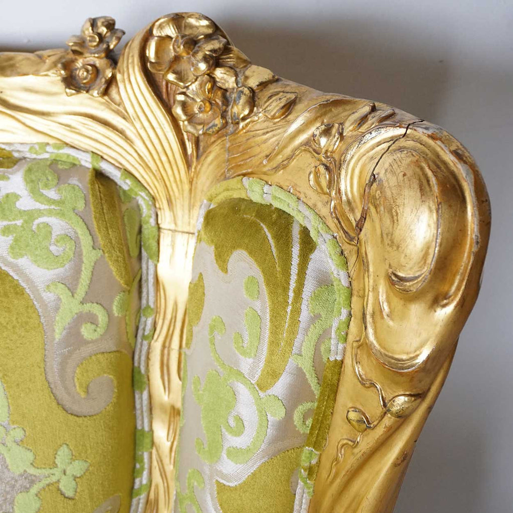 American S. Karpen & Brothers Art Nouveau Giltwood