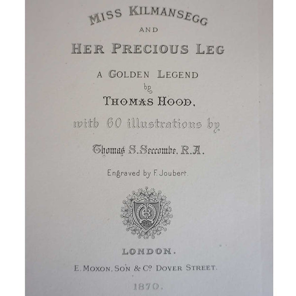 Leather Book: Miss Kilmansegg and her Precious Leg by Thomas Hood