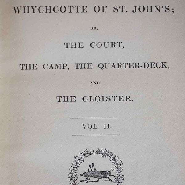 Set of Two Books: Whychotte of St. John's by Erskine Neale