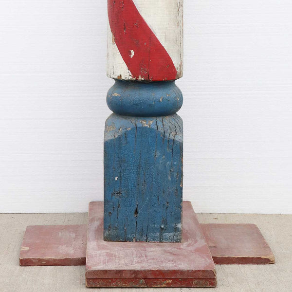 Large American Painted Pine Barber Pole Trade Sign