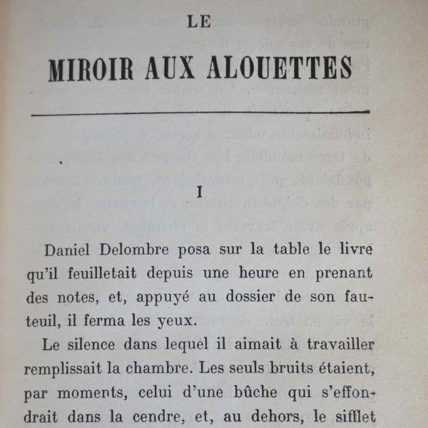 French Book: Le Miroir aux Alouettes by Julie de Mestral-Combremont