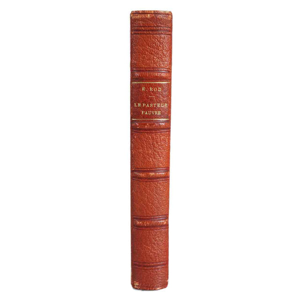 French Leather Bound Book: Le Pasteur Pauvre by Edouard Rod