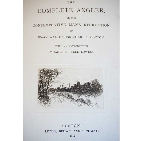 Leather Bound Book: The Complete Angler by Izaak Walton