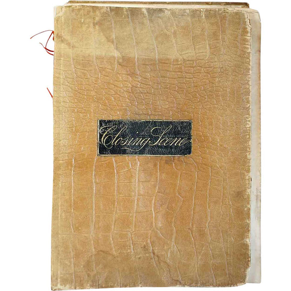 Leather Bound Book: The Closing Scene by Thomas Buchanan Read