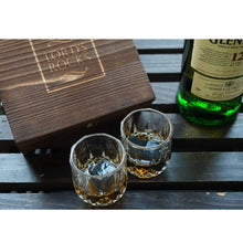 Load image into Gallery viewer, The Connoisseur - 6 Whiskey Stones + Two 2.7 oz Glasses
