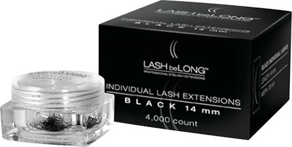 LASH be LONG Individual Lash Extensions 4,000 count BLACK (14mm)