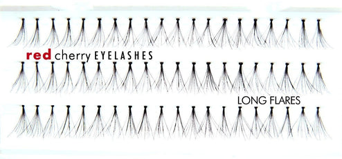 Red Cherry LONG FLARES Individual Lashes