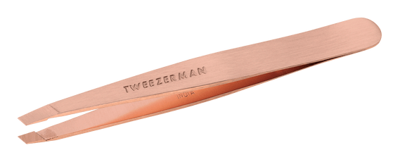 Tweezerman Stainless Steel Slant Tweezers Rose Gold