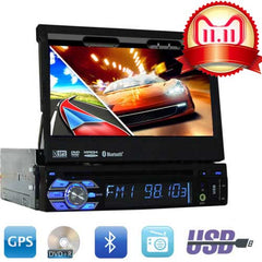 1 din car dvd cd player autoradio 7 inch Digital Touch Screen Head Unit support GPS Navigation/IPOD/Subwoofer/Bluetooth/AM FM