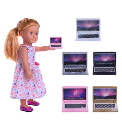 1 pcs Creative Notebook Computer Model For 18 inch Our Generation the United States Girls Doll Goods For Dolls Girl Toys