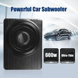 "10"" 600W Under Seat Car Subwoofer Amplifier Ultra-Thin Vehicle Active Subwoofer Bass Amplifier Speaker Enclosure Car Audio"