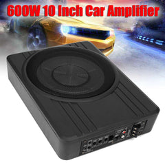 10 Inch 600W Car Subwoofer Speaker Audio Amplifier Vehicle Subwoofer Bass Amplifier Enclosure Auto Sound Car Audio Speaker