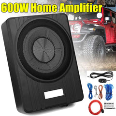 10 Inch  600W Slim Under Seat Car Active Subwoofer Bass Amplifier Speaker Enclosure Car Amplifier Subwoofers