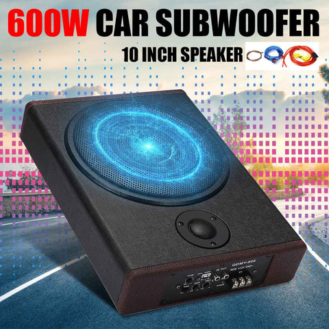 10 inch 600W Car Active Powered Subwoofer Super Bass Subwoofers Speaker Home Audio Auto Stereo Amplifier Lound Speakers
