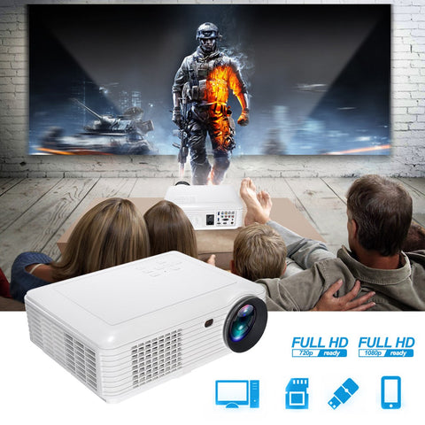 1080P 3500 Lumens LED Projector Home Theater portable mini Projector with AV cable Remote control