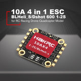 10A 4 in 1 1-2S BLHeli_S/Dshot 600 ESC Electronic Speed Controller for RC Racing Drone Quadcopter Multicopter Accessories HOT!