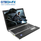"15.6"" Gaming Laptop i7 8GB RAM SSD 512GB 256GB 128G Large Notebook PC DVD Metal Business AZERTY Italian Spanish Russian Keyboard"