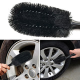 1Pcs Car Washing Wheel Brush Car Tire Rim Cleaning Handle Brush Tool Washable Handy Car Washer Brush Car Styling Auto Accessory