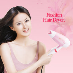 1pc 900W Pink Electric Hair Dryer Foldable US Plug Blow Dryers Hair Styling Equipment for Home Use Travel Use Hair Accessories