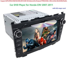 2 DIN Size Car Stereo DVD GPS NAV Radio for Honda CRV CR-V CR V 2007-2011 GPS/RDS/USB/SD/SWC/BT/CAM IN/Subwoofer/Output/TPMS/DAB