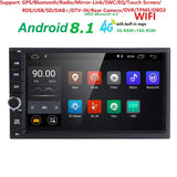 2 GB RAM Quad Core Car Electronic autoradio 2din android 8.1 car media player stereo GPS Navigation WIFI+Bluetooth+Radio+4G DAB+