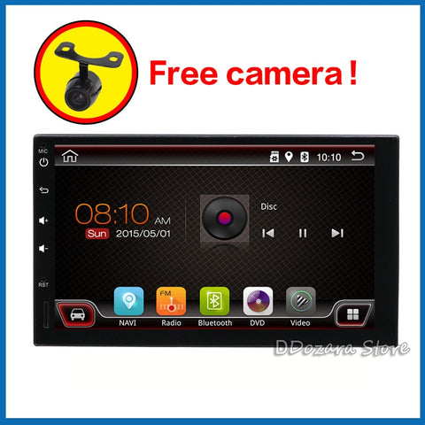 2 din car radio cassette player autoradio android 7.1 with bluetooth subwoofer wifi rear camera and map