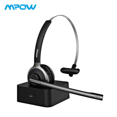2018 Mpow M5 Pro Wireless Headphones Bluetooth Over-ear Krystal Clear Noise Cancelling Headphones With Microphone&Charging Base