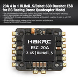 20A 4 in 1 2-4S BLHeli_S/Dshot 600 Oneshot ESC Electronic Speed Controller for RC Racing Drone Quadcopter Accessories ht