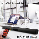 20W Wireless Bluetooth Column Soundbar Stereo Speaker TV Home Theater Built-in Lithium Battery 2.0A Sound Bar TF USB Sound Bar