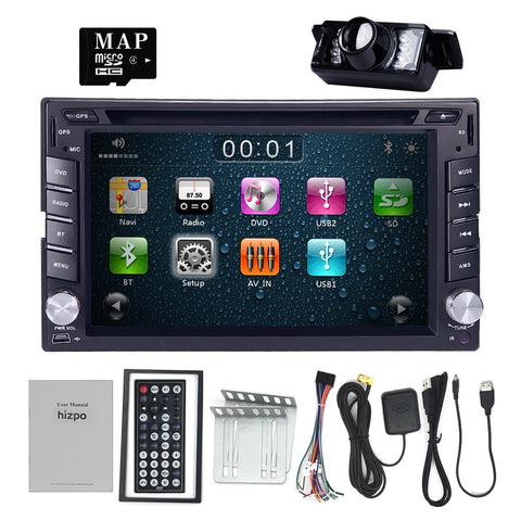 2din New universal Car Radio Double 2 din Car DVD Player GPS Navigation In dash Car PC Stereo video Free Map Car Electronics CAM