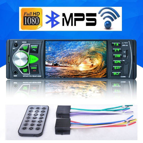 "4.1"" Mp5 Player 1 Din Car Radio 4022D Bluetooth Stereo Audio Fm Transmitter Car Video with Remote Control Suport Rearview Camera"