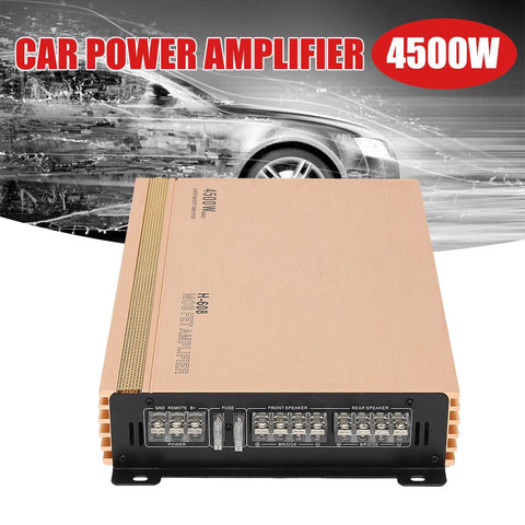 4500W 4 Channesl Car Audio Amplifier 12V Auto Truck Motorcycle Audio Power Stereo Hi-Fi Amplifiers Amp Speaker Subwoofers