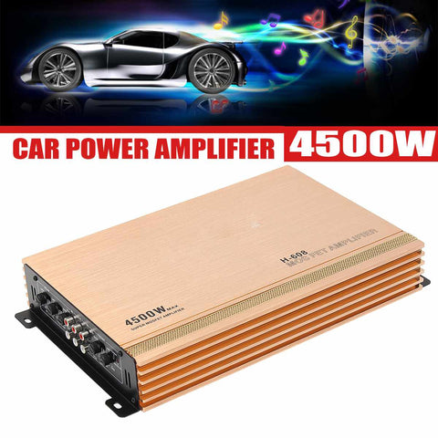 4500W 4 Channesl Hi-Fi Car Audio Power Amplifier Subwoofers 12V Auto Vehicle Radio Video Stereo Amplifiers Amp Speaker