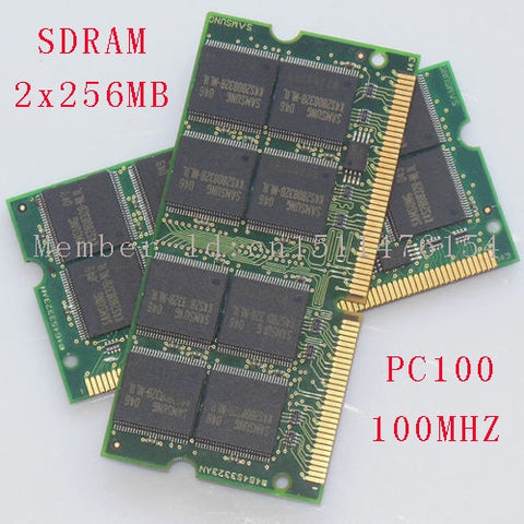 512MB 2x256MB PC100 100MHz SO-DIMM laptop Notebook memory RAM Non-ECC 144pin NEW Free Shipping