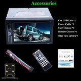 "6.2"" 2 Din Smart Car DVD CD Player Autoradio Stereo 1080P Touch Screen Auto Radio MP5 Player Bluetooth TF USB FM Play DC 12V"