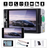 "6.6"" 2 Din Car Radio Mp5 Mp3 Player Bluetooth Hands-Free Autoradio Stereo Car Audio Touch Screen Radios Usb Fm Aux In"