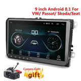 9 inch Android 8.1 Double 2Din Car radio GPS Auto radio 2 Din USB For Volkswagen/Passat/GOLF/Skoda/Seat Wifi bluetooth 2din