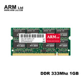 ARM Ltd DDR1 DDR 1 gb pc2700 ddr333 333MHz 200Pin Laptop ddr memory CL2.5 DIMM RAM 1G Lifetime Warranty