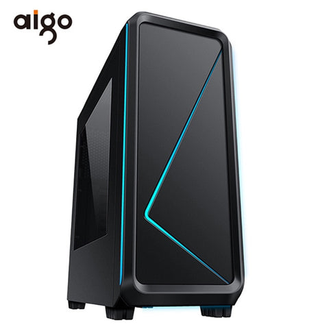 Aigo ATX Gaming Computer Case Chassis 450*190*470mm High Quality Computer Case USB 3.0 Audio Reboot Port Gabinete Computador