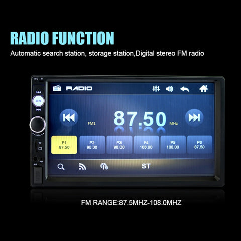 Auto Double 2 DIN Car Bluetooth Audio 7in HD Radio In Dash Touch Screen Stereo MP3 MP5 Player 7010B USB Steering Wheel Control