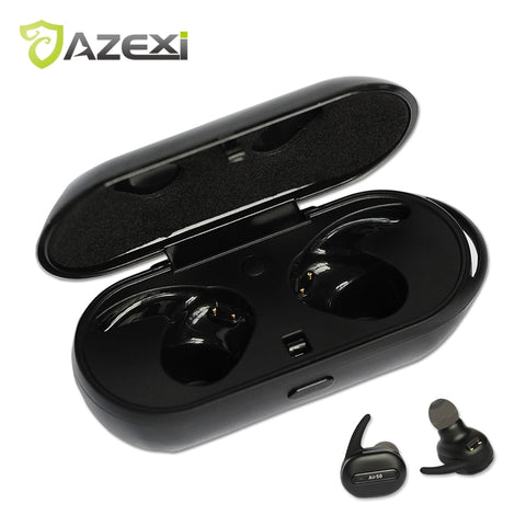 Azexi Air50 Wireless Bluetooth Headphone Stereo Headset Sports In-Ear Earphone with Microphone for Mobile Phone iphone se Xiaomi