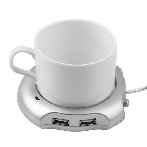 Beverage Cup 4 Ports USB Hub Tea Coffee Cup Mug Warmer 50 degree Max Liquid Temperature Electric Warmer For PC Heater Pad