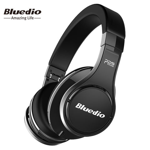 Bluedio U(UFO)Bluetooth headphone  High-End Genuine Patented 8 Drivers 3D Sound Aluminum alloy Over-Ear wireless headset