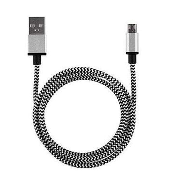 Braided Aluminum Micro USB Data&Sync faster Charger Cable For Android Phone  High Speed Certified Cell Phone Accessories